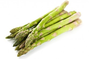 A stack of folate rich asparagus