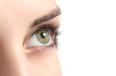 Close up of an eye of woman to illustrate macular degeneration
