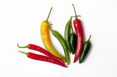 Mix of fresh hot chili peppers