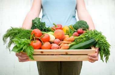 Organic clean fruits and vegetables for a detox