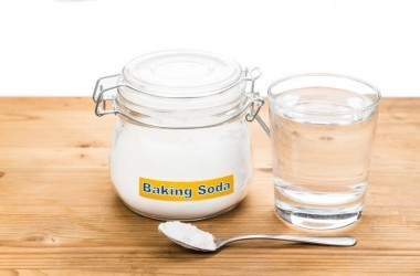 Baking soda sodium bicarbonate with water to fight aging