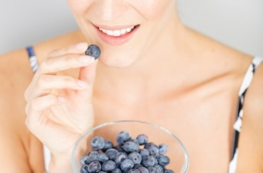 woman eating brain protecting summer berries