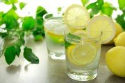 Glass of lemon water provides a number of health benefits
