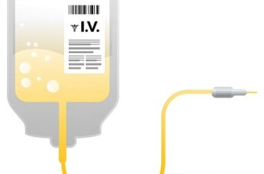 IV bag of intravenous vitamin C to treat cancer