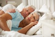 Senior Woman Having Difficulty Sleeping Considers Dangerous Sleeping pills