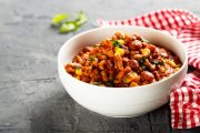 Bowl of hearty superfood chili
