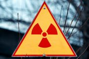 Radiation sign illustrating radiation exposure from Fukushima