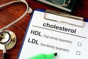 Medical form with words cholesterol HDL LDL cholesterol get perfect cholesterol
