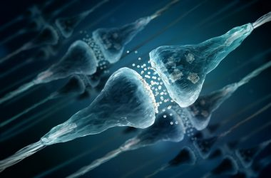 Illustration of synapses and neuron cells destroyed by sleep deprivation