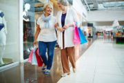 Shopping seniors getting out of the house for a longer life