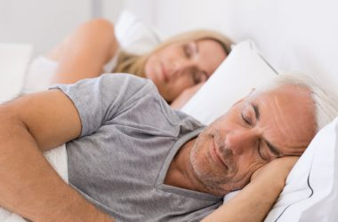 Senior couple sleeping late harming their health