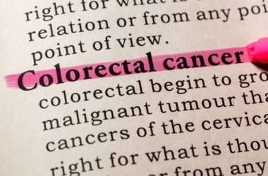 Phrase colorectal cancer highlighted in a dictionary