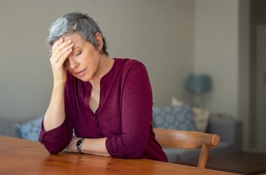 Depression strikes a senior woman at home