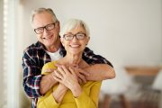 Smiling senior couple is no longer dealing with erectile dysfunction