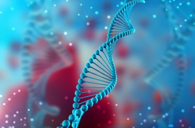 Image of DNA to illustrate genetic tie to Alzheimer's disease