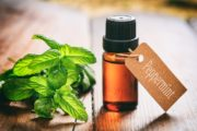A bottle of irritable bowel syndrome easing peppermint oil