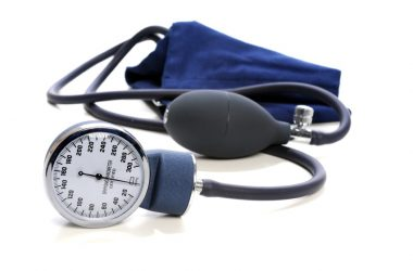 Blood pressure cuff to illustrate link between blood pressure and cognitive decline