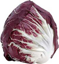 Purple or red cabbage which is rich in anthocyanins